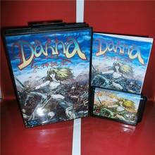 Dahna Megami Tanjou japon couverture avec boîte et manuel pour MD MegaDrive Genesis Console de jeu vidéo 16 bits carte MD