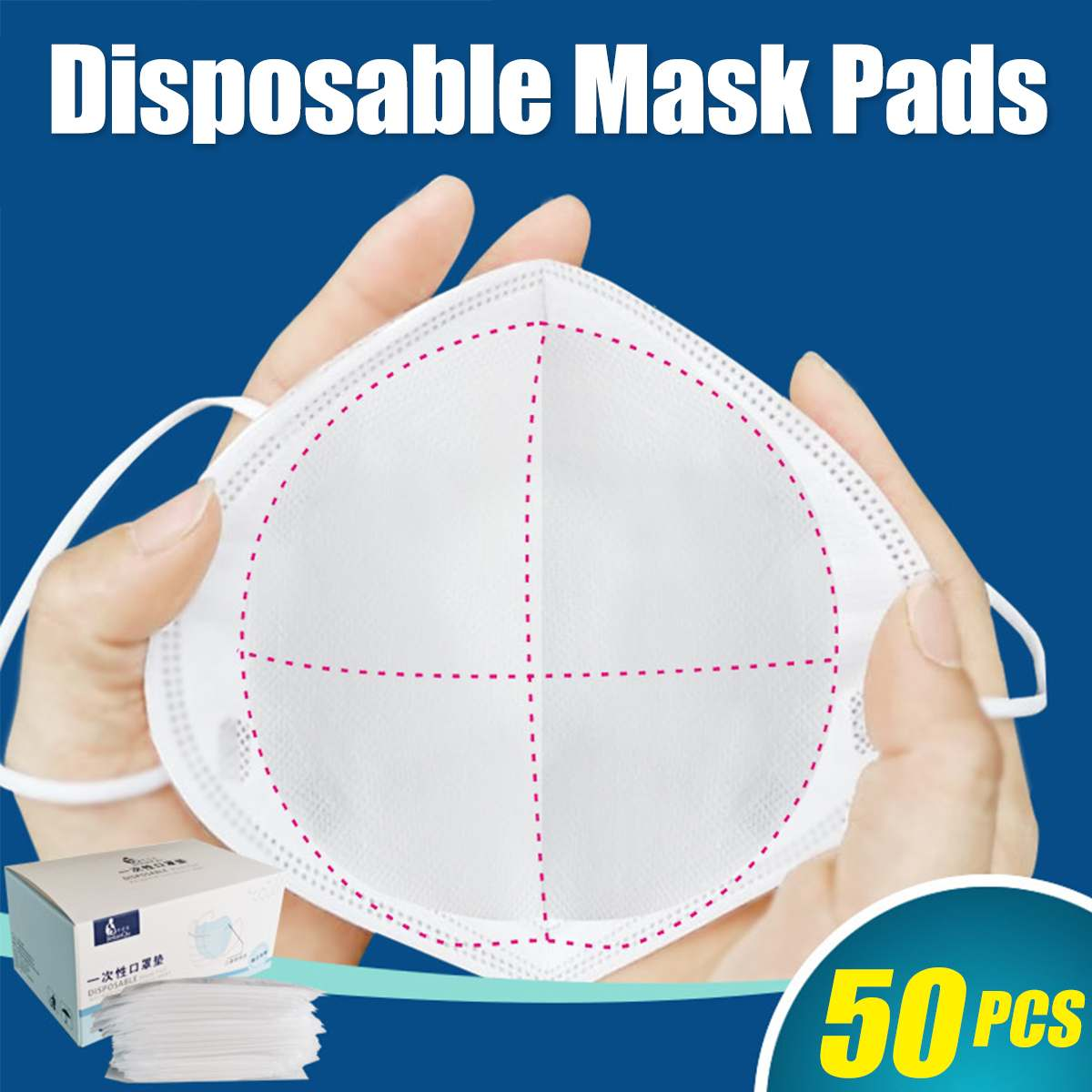 50PCS Mask Respirator Filter Pad 3 Layers Disposable Anti Smog Anti Flu Prevention For Kf94 N95 KN95 Ffp3 2 1 All Face Mask