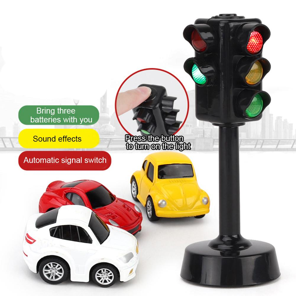 Mini Traffic Signs Light Speed Camera Model With Music LED Education Kids Toy Intelligence Develop Toys