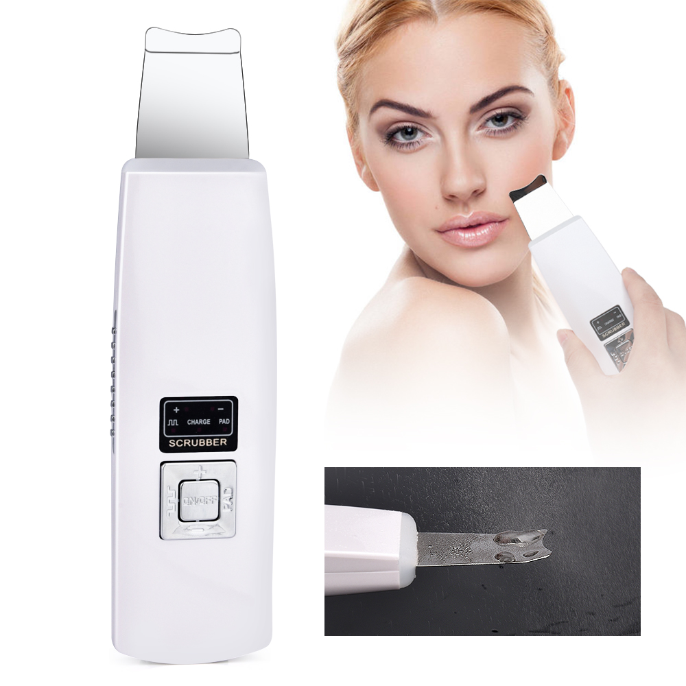 Ultrasonic Face Cleaning Skin Scrubber Deep Cleanser Blackhead Machine Remove Dirt Reduce Wrinkles Facial Whitening Lifting Tool