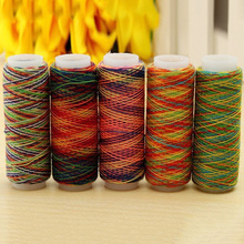 5pcs/set DIY Portable Professional Embroidery Accessories Quilting Craft Hand Rainbow Color Home Sewing Thread
