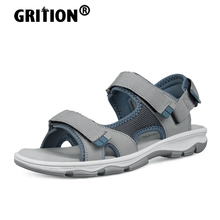 GRITION Women Outdoor Sandals Casual Flat Fashion 2021 Non Slip Breathable Wearable Female Summer Beach Trekking Shoes 37-41 New