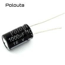 5 Pcs/lot Polouta Aluminium Electrolysis Direct Plug Capacitors Components 4700UF 25V 16x25mm Kits In-line Super Capacitor