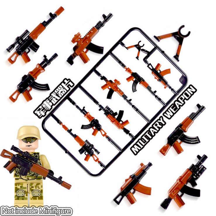 Lizhi العسكرية مجموعة الجيش مدينة الشرطة بندقية الأسلحة سلسلة حزمة جنود المدينة سوات ليجودز ألعاب مكعبات البناء للأطفال الأطفال