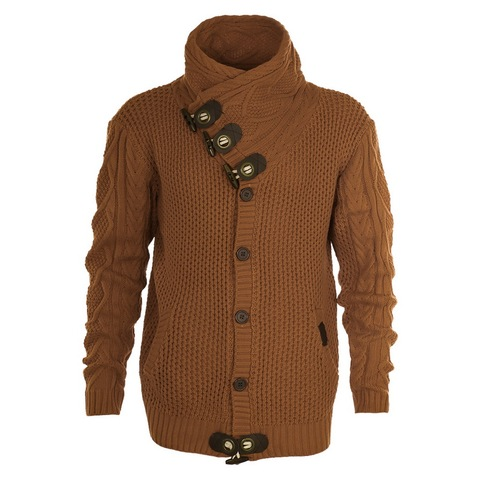 2019Autumn Winter Fashion Casual Cardigan Sweater Coat Men Loose Fit 100 %Terylene Warm Knitting Clothes Sweater Coats Men 4xl Multan