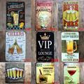 Новые пивные VIP ретро металлические жестяные знаки коктейльный налет для паба бар клуба пещера Настенный декор винтажные плакаты железная ...