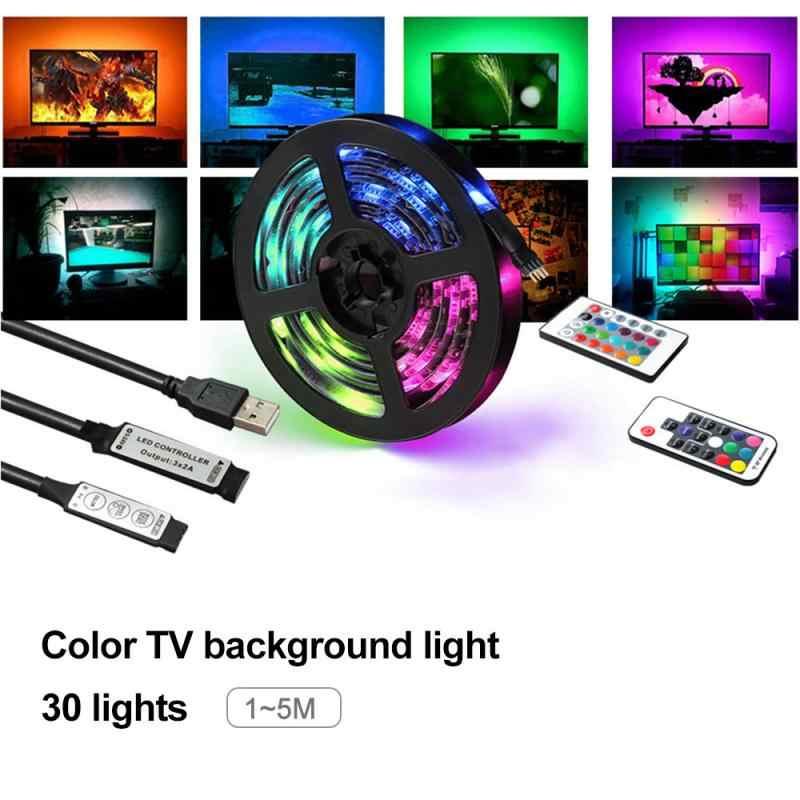1//2//3//4//5M RGB LED STRIP LIGHTS IP65 5050 30LED//M 5V+24 KEY IR CONTROLLER BE