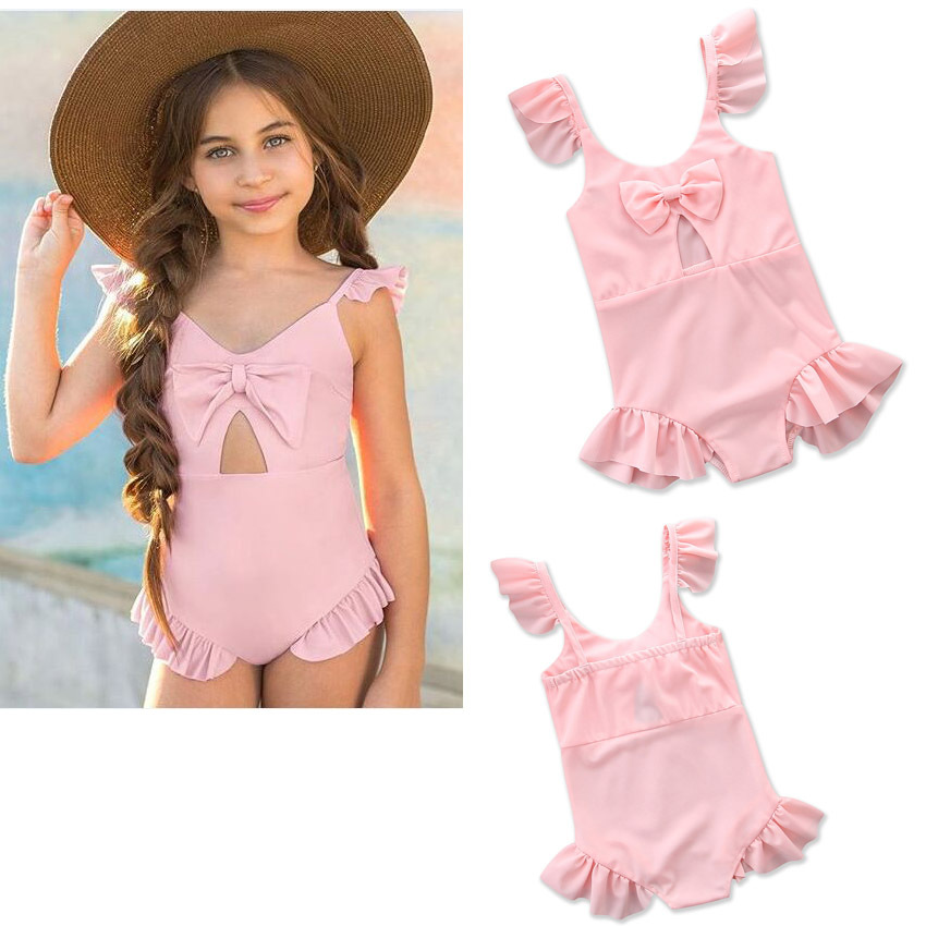 2018 Summer KID'S Swimwear 2-5-Year-Old GIRL'S Girls Children One-piece Swimwear