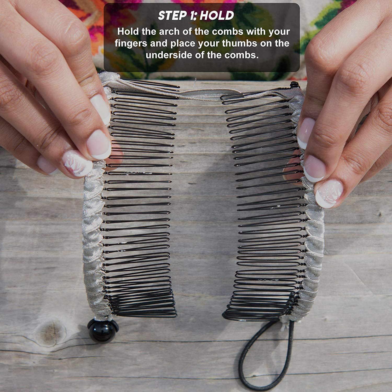 Frauen Vintage Haar Clip Kamm Damen Stretchy frauen Haare Clip Kämme Professionelle Doppel Seite Haarnadeln Haar Zubehör Werkzeug 1217