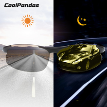 CoolPandas Brand Photochromic Sunglasses HD Polarized Men Women Goggle Day Night Vision Driving Glasses Change-Color Lens UV400