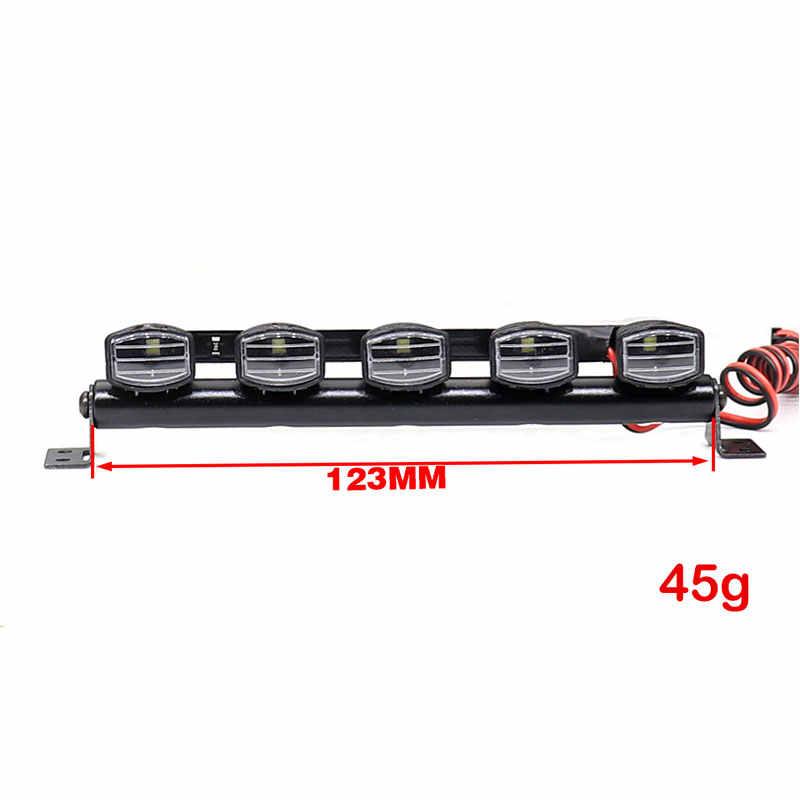 1 Uds RC techo equipaje LED barra de luz Kit para Trx-4 Trx4 Axial SCX10 90046 D90 RC Rock Crawler camión cuerpo luces de techo