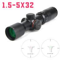 NEW 1.5 5X32 In Riflescope With Green Red Illuminated And Digital Differentiation Reticle Hunting Rifle Scope Chasse