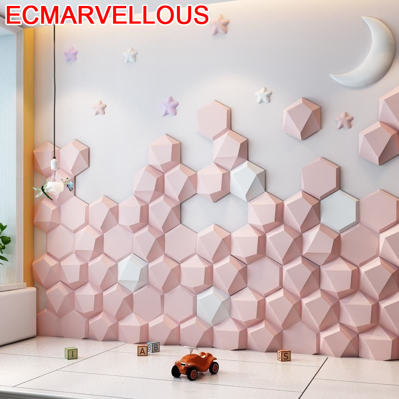 Cabezal Enfant T Te Coussin Bedroom Cojin Bed Children 3d Wall Sticker Cabeceira Tete Lit De Pared Cabecero Cama Headboard