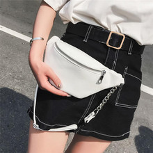 Women PU Leather Fashioon Waist Bag Fanny Pack Holiday Money Belt Wallet Bum Travel Bag Phone Pouch 2020 Black White Waist Packs