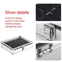 metal box Watch storage box Aluminum Alloy Case Useful 6 12 Grid SlotsJewelry Watches Aluminium Alloy Display Storage Box Case cheap luxfacigoo CN(Origin) Watch Boxes Fashion Casual New without tags Rectangle 6 5cm 21cm 26cm Mixed Materials