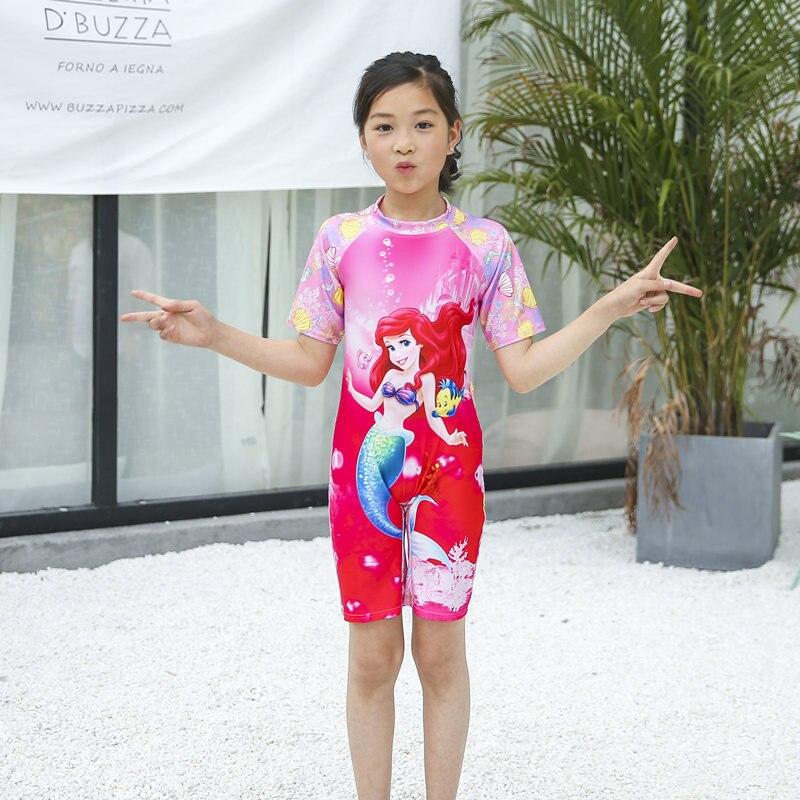Mermaid KID'S Swimwear Medium-small Girls Siamese Swimsuit GIRL'S Baby Diving Suit Coat