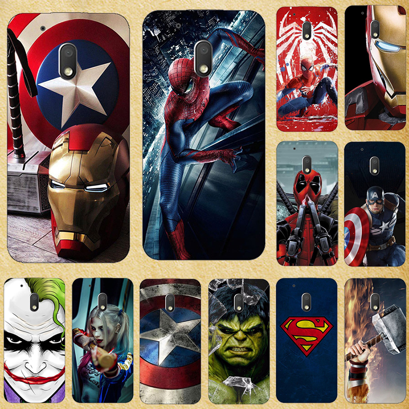 Super Hero Phone Case Cover For Motorola MOTO G4 G 4 Play Plus Power Soft Silicone Back cover For Moto G XT1028 XT1032 Bags image
