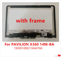 Original 14 inch IPS LCD digitizer mount for HP PAVILION X360 14M BA 14 ba series with touch screen + frame N140HCE EBA