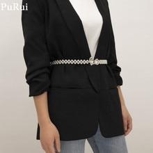 Purui Bohemia Butterfly Imitation Pearls Chain Waist Belt Elegant Kpop Women Dress Waist Chain Fshion Waistband Jewelry Charm цена 2017