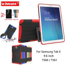 For Samsung GALAXY Tab E 9.6 T560 case SM-T560 T561 9.6 inch Tablet Silicone TPU+PC Shockproof Stand Cover for T560 +pen+Film цена в Москве и Питере