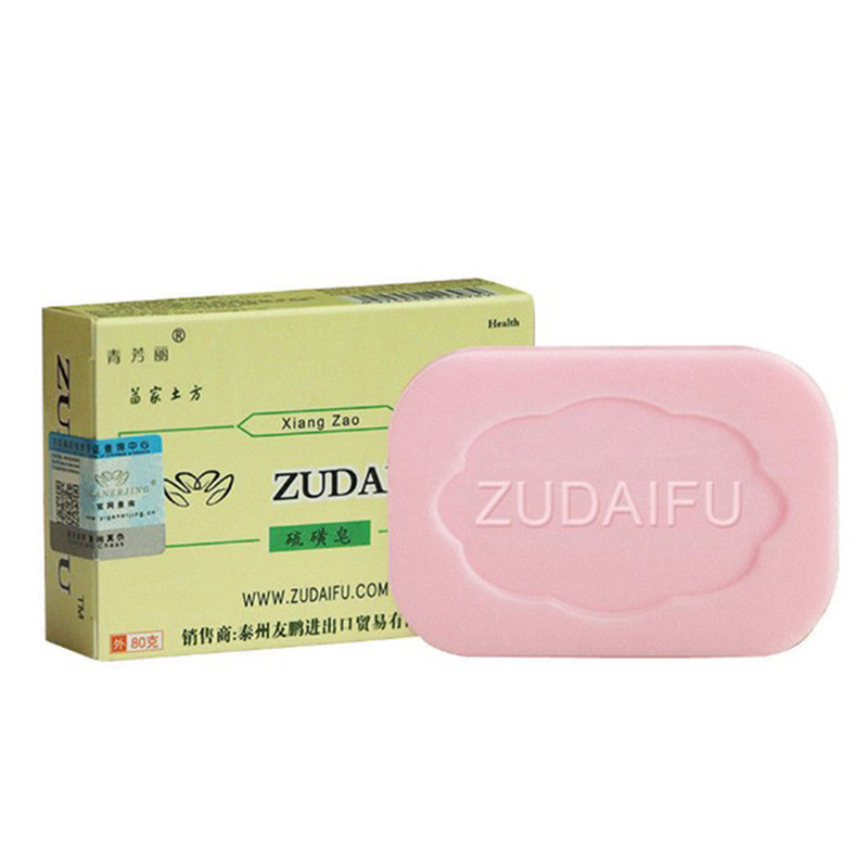 1pc Ointment Soap Psoriasis Antibacterial Cream Sulfur Soap Handmade Restrain Bacterium Sulphur Soap Whitening Bath