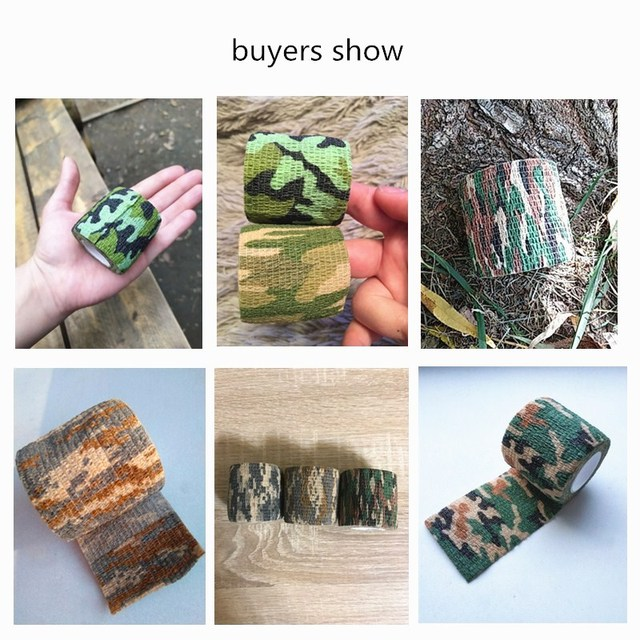 11colors Army Camo Outdoor Hunting Shooting Blind Wrap Camouflage Stealth Tape Waterproof Wrap Durable 5cmx4.5m 3