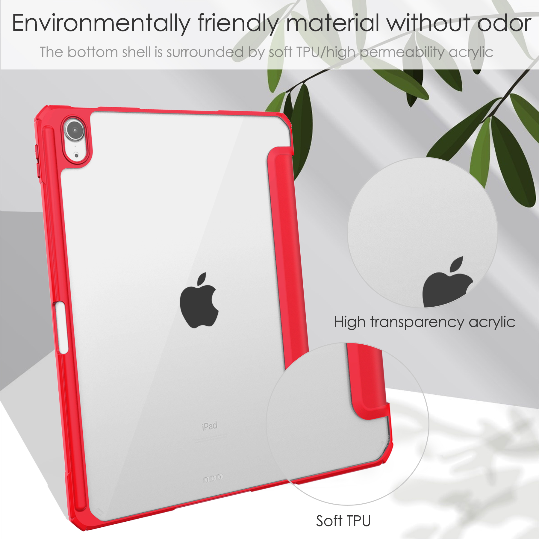 up iPad 3-folding Wake Cover Auto 2020 10.9 Funda Tablet For inch Sleep Case Air Case