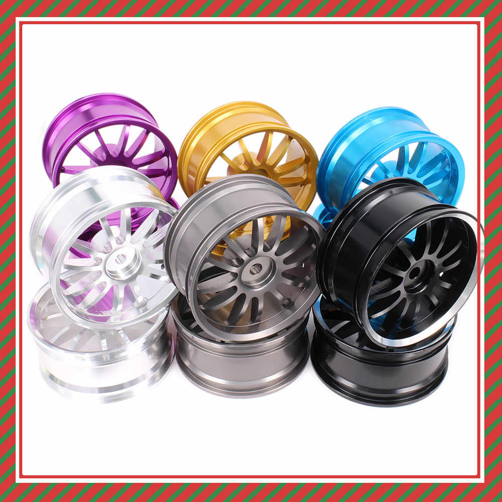 12 spoke Velg w/o Band Voor Rc 1/10 On-Road Racing Crawler band Axiale Wltoys Himoto HPI Traxxas Redcat CNC Drifting Klimmen