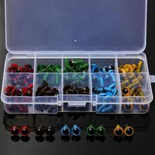 סיטונאי 100 Pcs/50 Pairs 5 צבעים לערבב 8mm פלסטיק בטיחות עיני תיבת עבור דובון ממולא צעצוע הצמד בעלי החיים בובות בובת מלאכת DIY
