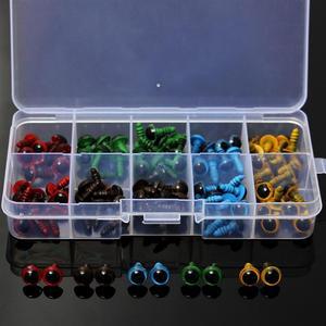 Image 1 - Toptan 100 adet/50 çift 5 renk Mix 8mm plastik güvenlik gözler kutusu oyuncak ayı doldurulmuş oyuncak yapış hayvan kukla bebek zanaat DIY