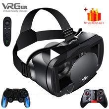 3d vr fone de ouvido inteligente óculos de realidade virtual 7 polegadas capacete para smartphones telefone android iphone lente com controlador binóculos