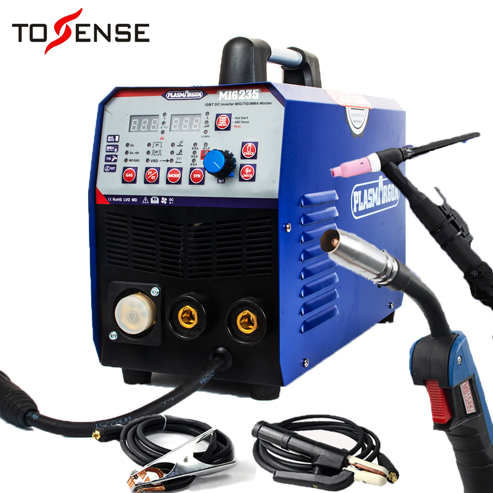 TIG/MMA/Saldatura MIG Macchina 3IN1 Combo Multi-Funzione Saldatore 220V & Torce