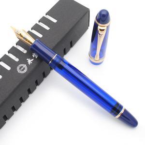 Image 5 - Wing Sung 699 Transluzenten Vakuum Füllung Brunnen Stift EF / F / M Nib Tinte Stift Original Box