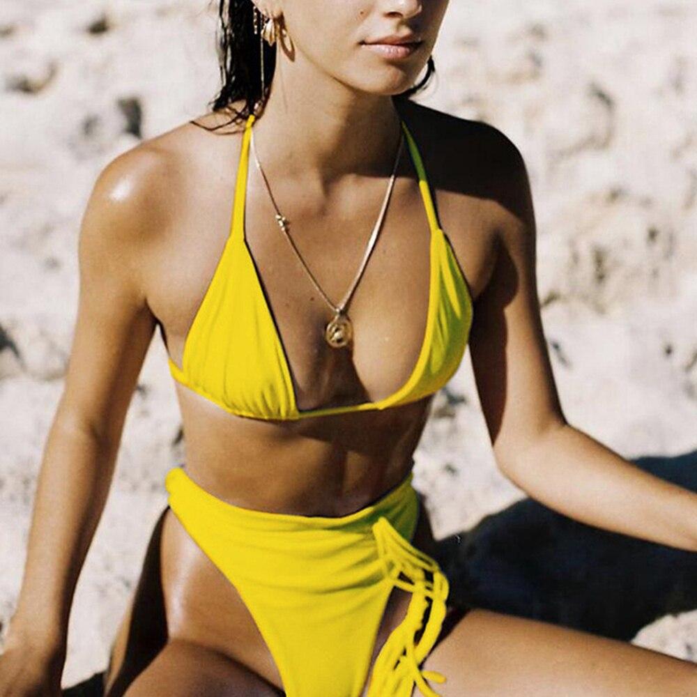 ZTVitality Sexy Push Up Bikini 2020 Hot Sale Padded Bra Thong Bikinis High Waist String Swimsuit Female Biquini Swimwear Women 2