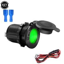 Zwarte Kleur 12V 120W Motorfiets Auto Boot Tractor Accessoire Waterdicht Sigarettenaansteker Stopcontact Plug Outlet Auto-styling