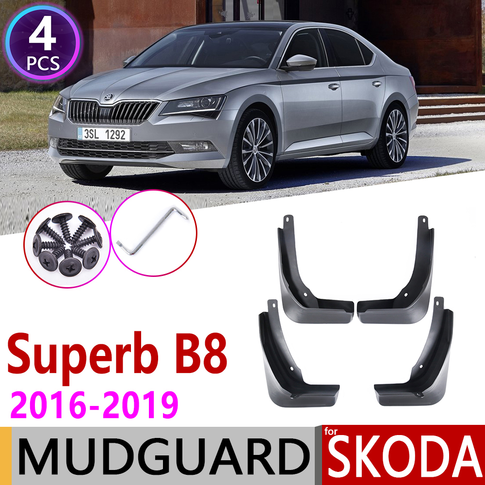 Front Rear Car Mudflaps for Skoda Superb B8 3 MK3 3V 2016 2019 Fender Mud Guard Flap Splash Flaps Mudguard Accessories 2017 2018