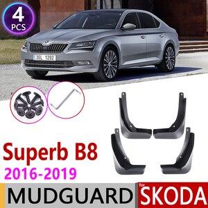 Image 1 - Front Rear Car Mudflaps for Skoda Superb B8 3 MK3 3V 2016~2019 Fender Mud Guard Flap Splash Flaps Mudguard Accessories 2017 2018