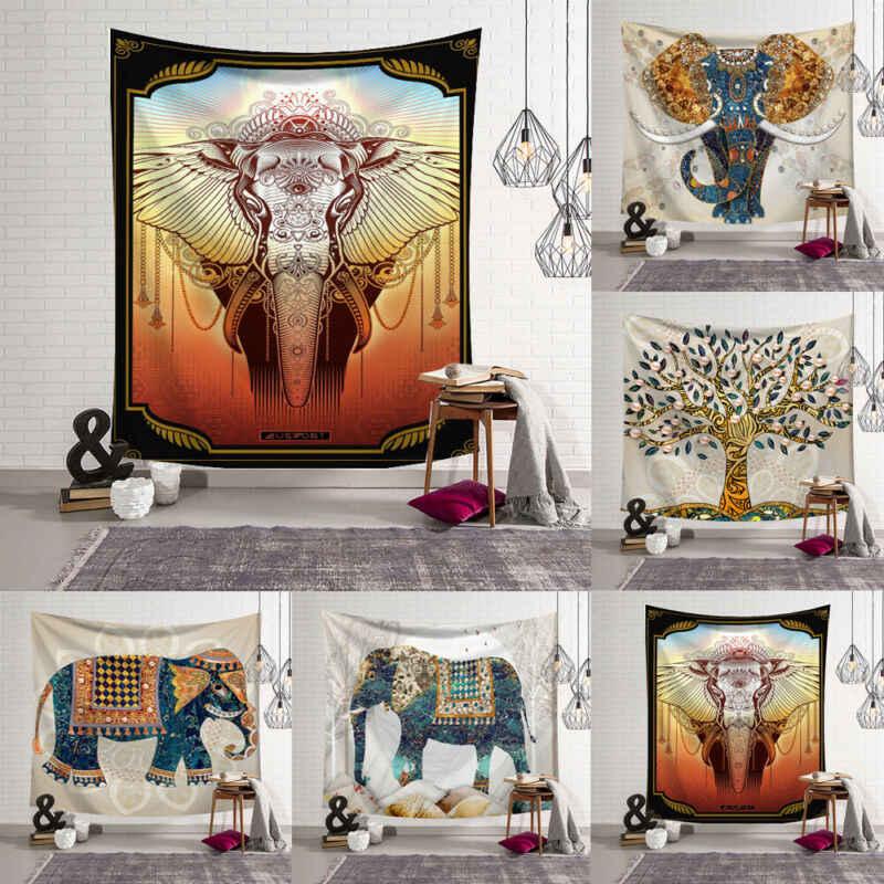 95x73 cm indie Mandala gobelin ozdoba do powieszenia na ścianie ściany tkaniny dekoracyjne psychodeliczny Hippie noc gobelin Mandala na ścianę dywan