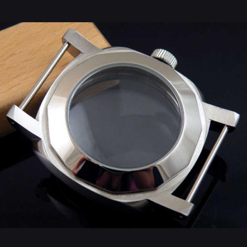 44mm נירוסטה שעון מקרה fit eta 6497 6498 ST36 המילטון 917 921 תנועה