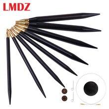 LMDZ 1Pcs Hohe Qualität Sandelholz Rund Stricken Nadeln Pullover Weben Werkzeuge Wolle Baumwolle Garn DIY Stricken Zubehör