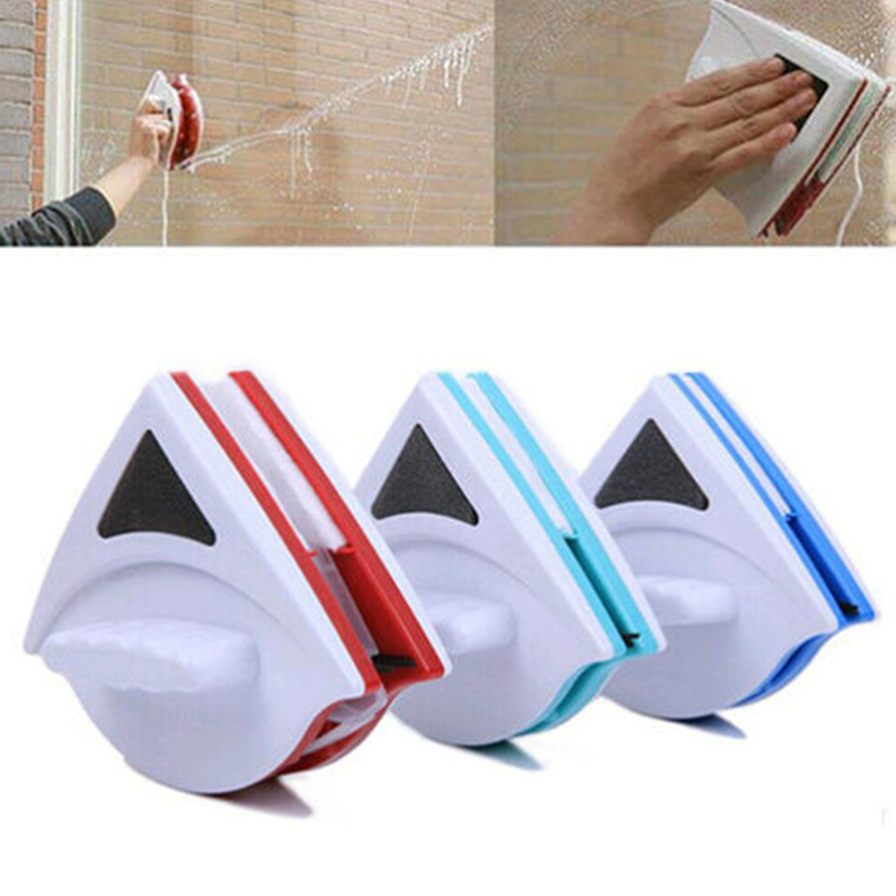 New Magnetic Window Glass Cleaner Wiper Double Side Washing Windows Outside Surface Window Brush Glass Wiper Cleaning Brush Tool
