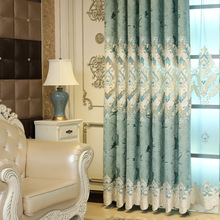 European and American Style Royal blue Luxury curtains for Living Room window curtain for Bedroom Blackout curtain kitchen/Hotel custom european luxury purple embroidered blackout curtains for bedroom window curtain living room window curtain kitchen hotel
