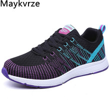 women's shoes flying woven travel sneakers fashion Comfortable breathable lightweight mesh flats women casual sports shoes new flying woven mesh breathable women s shoes casual wild lace mesh women s sneakers shoes fashion lightweight casual shoes