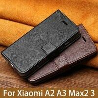Flip Phone Case For Xiaomi Mi A1 A2 Lite A3 lite For Max 2 3 Mix 2s 3 Poco F1 Y3 Case Litchi Texture Cover