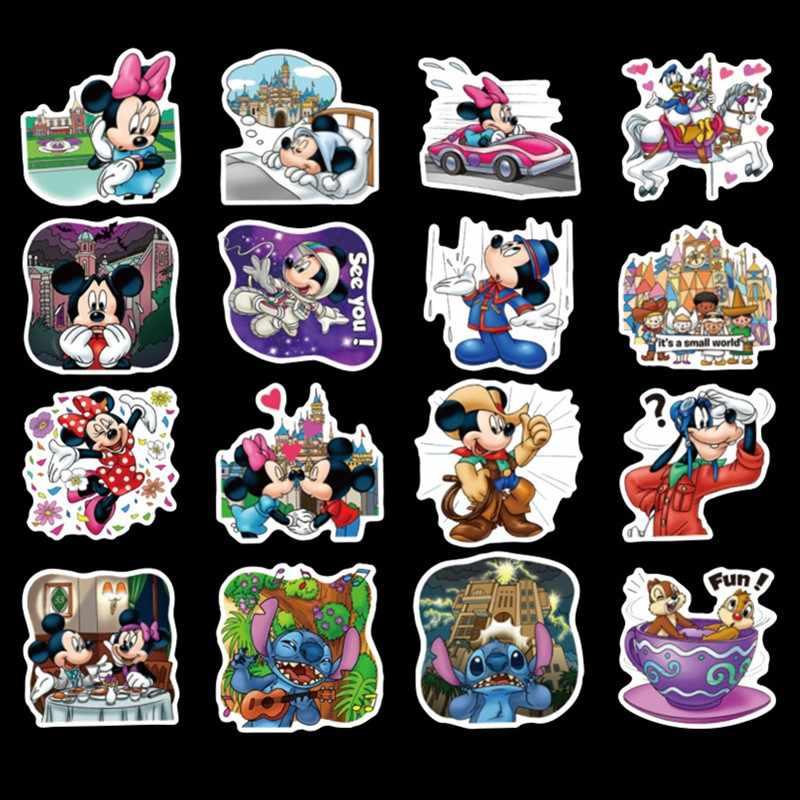 Unduplicated 50 pcs Disney Minnie mickey Mickey Mouse crianças adesivos mala guitarra caráter do doodle adesivos