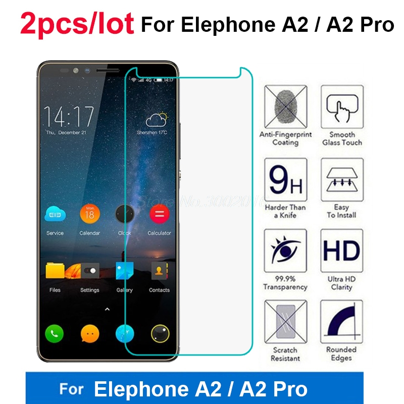 """2Pcs Screen Protector for Elephone A2 pro Tempered Glass 9H Premium Protective Glass Smartphone Front Film For Elephone A2 5.47"""""""