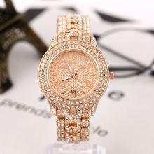 Женские часы с бриллиантами золотые роскошные брендовые со стразами