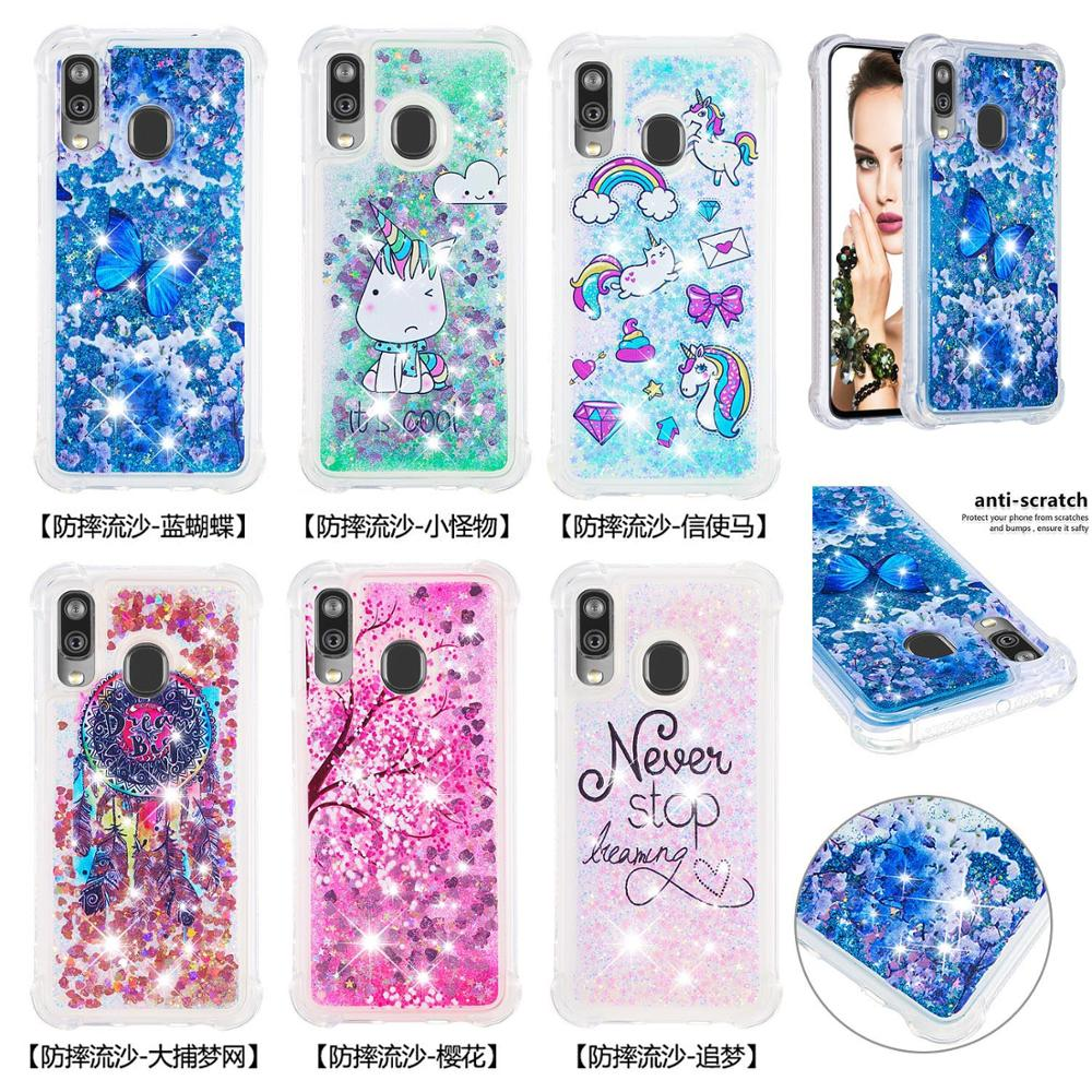 Image 5 - Glitter Bling Phone Cases For Samsung Galaxy A40 Note 10 Pro Note 10 Plus Note 10 A20e A10e Liquid Quicksand Soft TPU Back Cover-in Fitted Cases from Cellphones & Telecommunications