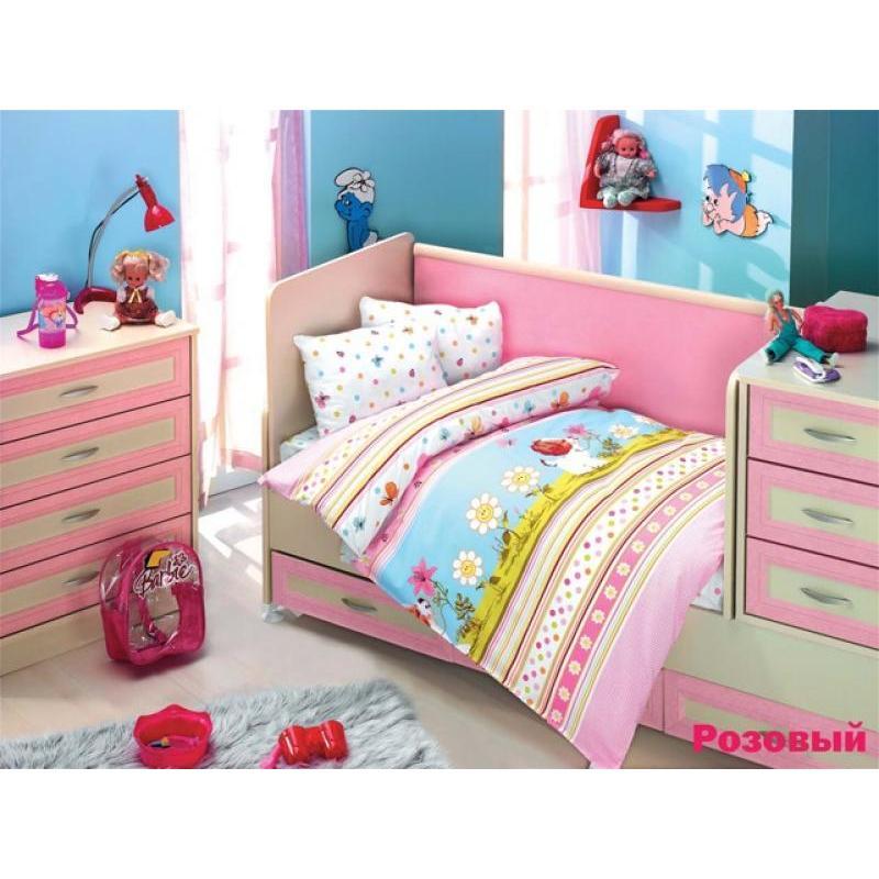 Фото - Bedding Set for baby ALTINBASAK, GULUCUK, pink bedding set for baby altinbasak dream garden