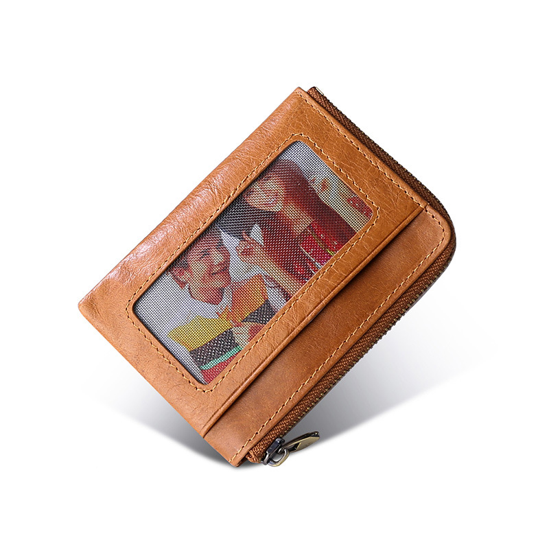 Genuine leather Vintage cardholder Multi function small purses for bank cards portable mini SD card case Casual Coin Card wallet
